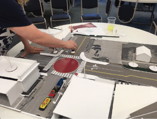 Model of Four Corners Intersection